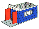 Lego set 348: Garage with automatic doors