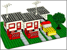 Lego set 353: Terrace house with car and garage