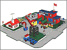 Lego set 355: Town center with roadways