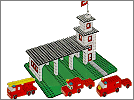 Lego set 357: Fire station with vehicles