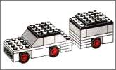 Lego set 623: White car and camper