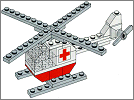 Lego set 626: Red Cross helicopter