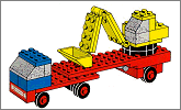 Lego set 649: Low loader with excavator