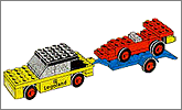 Lego set 650: Car with trailer and racing car