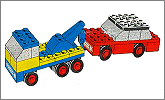 Lego set 651: Tow truck and car