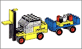 Lego set 652: Fork lift truck and trailer
