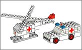 Lego set 653: Ambulance and helicopter