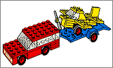 Lego set 660: Car with 'plane transporter