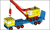 Lego set 682: Low loader and crane