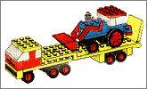 Lego set 682: Low loader and tractor