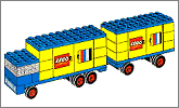 Lego set 685: Truck with trailer
