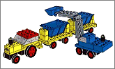 Lego set 686: Tipper trucks and loader
